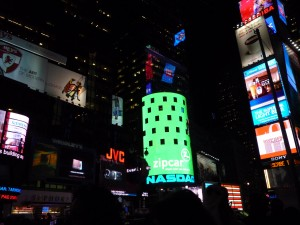 times sq at night
