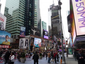 times square facing south