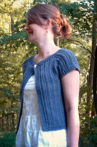 Razor Cardi side view | The Knitting Vortex
