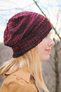 Crimp Hat side view | The Knitting Vortex