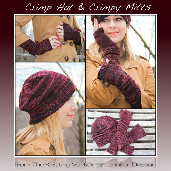 Crimp Hat & Crimpy Mitts | The Knitting Vortex