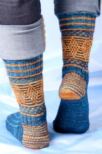 Magickal Quidditch Socks heel view | The Knitting Vortex