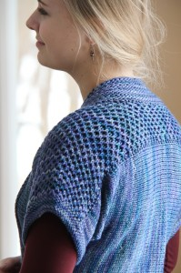 Blue Honey shoulder closeup | The Knitting Vortex