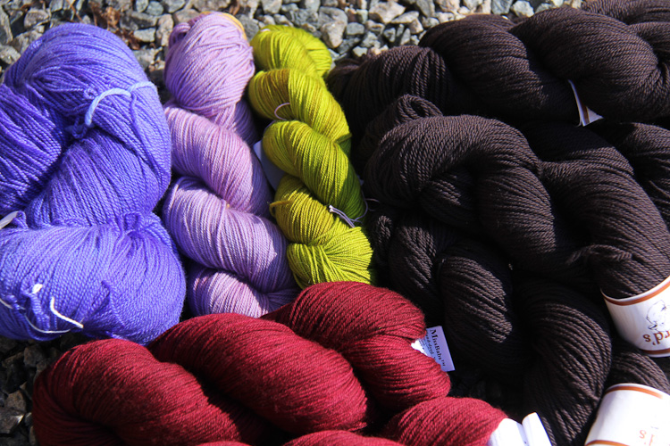 colorful yarn from Rhinebeck 2012