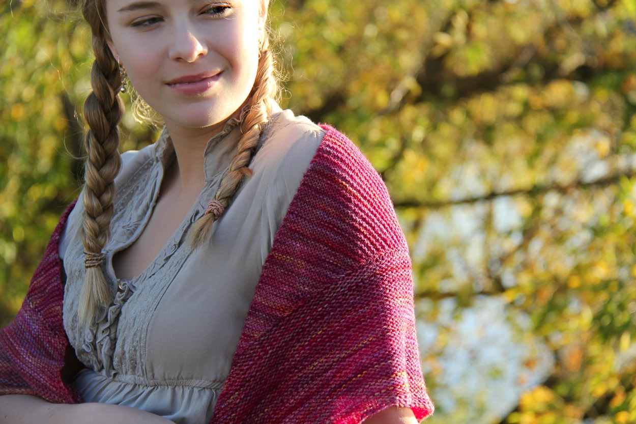 Triangulate shawl