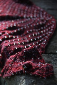 Cauldron Full of Hot Strong Love beaded closeup | The Knitting Vortex