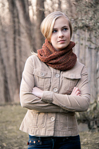 Roam Cowl wrapped | The Knitting Vortex