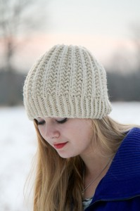 Fish Moderne Hat front | The Knitting Vortex