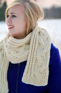 Fish Moderne Scarf cable closeup | The Knitting Vortex