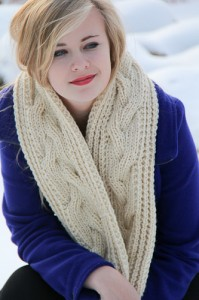 Fish Moderne Scarf front view | The Knitting Vortex