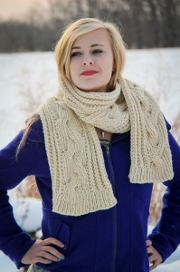 Fish Moderne Scarf stance | The Knitting Vortex
