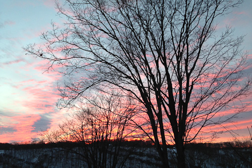 Wordless Sunset 1.27.2014 | The Knitting Vortex