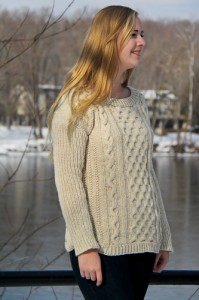 The Fisher Queen right front view | The Knitting Vortex