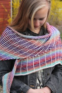 Crossfire wrap view | The Knitting Vortex