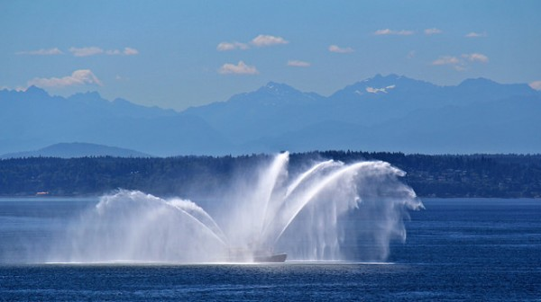 Seafair fireboat, Seattle harbor
