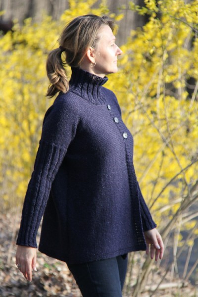 Turtleneck Boxy Jacket | The Knitting Vortex