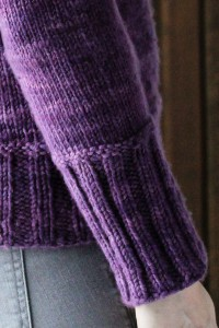 Frost Grape cuff detail | The Knitting Vortex