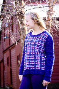 Truly Plaidly Deeply sweater | The Knitting Vortex