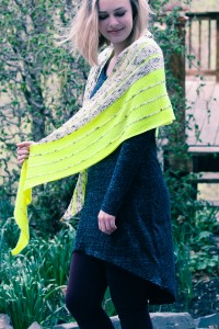 Kline Shawl side view | The Knitting Vortex