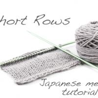 Tutorial: Short Rows using the Japanese method