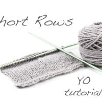 Tutorial: Short Rows using the yarnover method
